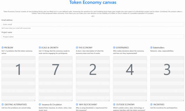 Evaluating Blockchain Projects With Token Economy Canvas