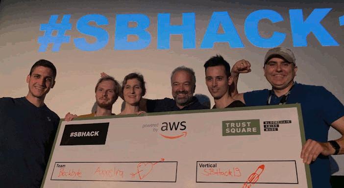 BlockByte won Trustsquare SBHack19 Hackathon!