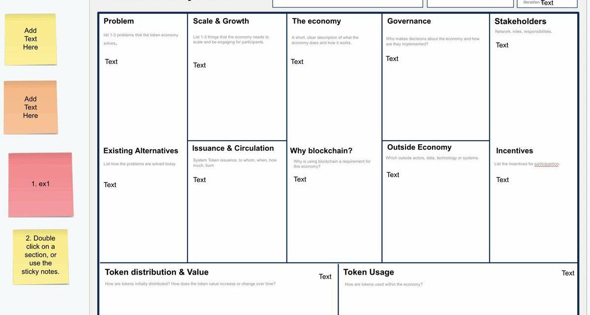 Token Economy Canvas Template for Google docs